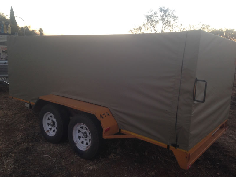 Canvas Seat Covers >> Trailer Covers - Custom Built Canvas Canopies