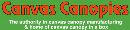 Custom Built Canvas Canopies